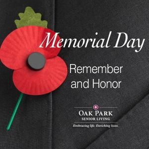 Memorial Day, Oak Park Senior Living, Oak Park Heights, MN