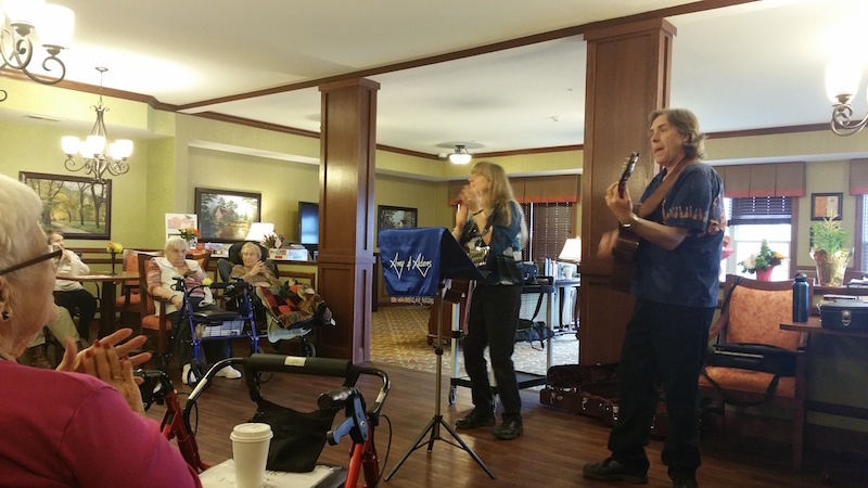 Amy and Adams, Concert, Oak Park Senior Living, Oak Park Heights, MN