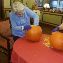pumpkin carving, happy halloween 2016, oak park senior living, oak park mn assisted living