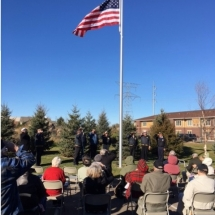 veterans day 2016, honoring our veterans, flag ceremony, oak park senior living, oak park heights, mn