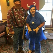 Up North Picnic-Oak Park Senior Living-Paul Bunyan and his blue ox, Babe
