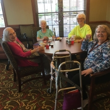 Alzheimers Fundraiser-Oak Park Senior Living-ladies sitting around a table