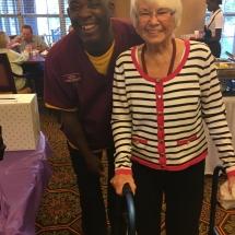 Alzheimers Fundraiser-Oak Park Senior Living-Oak Park staff member with tenant