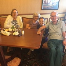 Alzheimers Fundraiser-Oak Park Senior Living-tenant and family hanging out