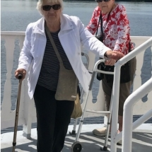 Stillwater Boat Ride-Oak Park Senior Living-women enjoying the fresh air