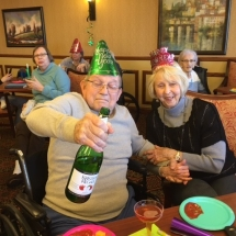 New Years Party at Oak Park Senior Living